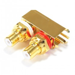 ELECAUDIO ER-110 RCA Plugs Stereo Gold Plated for CI