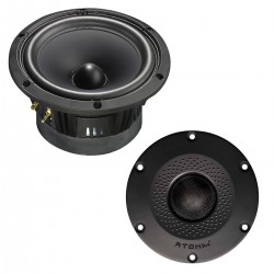 ATOHM EURUS E-5 Kit DIY Bookshelf Speaker 2 Way LD150CR04 and SD28ND04RD (Unit)