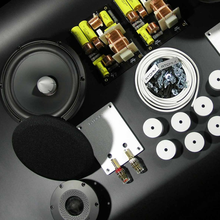 ATOHM EURUS E-5 Kit DIY Bookshelf Speaker 2 Way LD150CR04 ...
