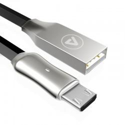 Câble USB-A Femelle / Micro USB Male Connecteur métal LED 1,2m