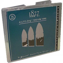 "1877 PHONO ""SILVER LITZ"" Fils de Litz Argent Pur 0.1mm² 60cm (x4)"