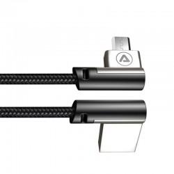 Câble Micro USB coudé vers USB-A coudé 1,m