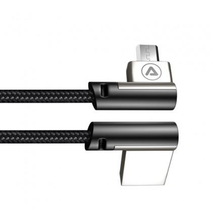 Micro USB cable bent to USB angled-A 1, m
