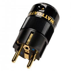 WATTGATE 390I AU Connecteur Schuko Triple Plaquage Cuivre OFC Nickel Or 24k Traitement Cryo Ø 16mm