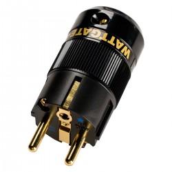 WATTGATE 390I AU Schuko Connector Triple Plating OFC Copper Nickel Or 24k Cryo Treatment Ø 16mm