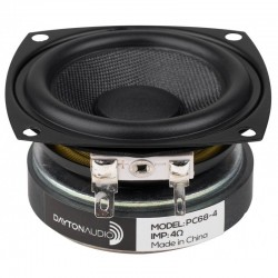 DAYTON AUDIO PC68-4 Full-range speaker 20W 4 Ohm 86dB 120Hz - 17kHz Ø6.3 cm