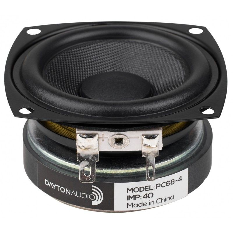 DAYTON AUDIO PC68-4 Haut-Parleur Large Bande 20W 4 Ohm 86dB 120Hz - 17kHz Ø6.3 cm