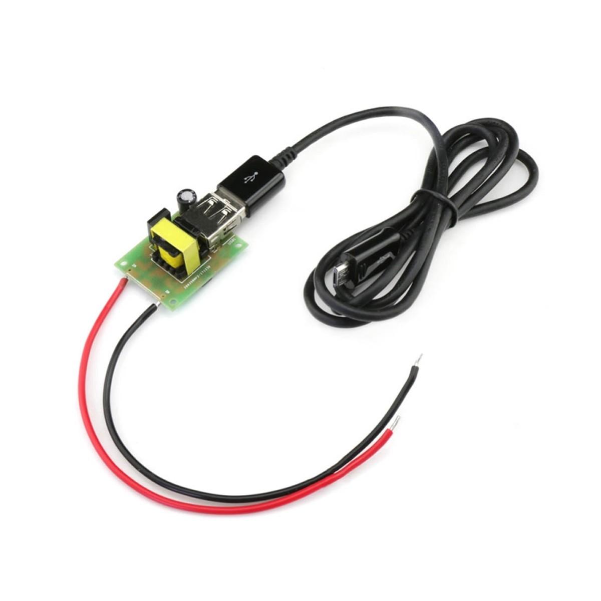 TINYSINE Adaptateur Convertisseur de Tension 12-80VDC vers 5VDC USB-A
