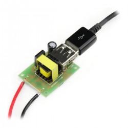 TINYSINE DC-DC Converter 12-80V to 5V USB-A / Micro USB