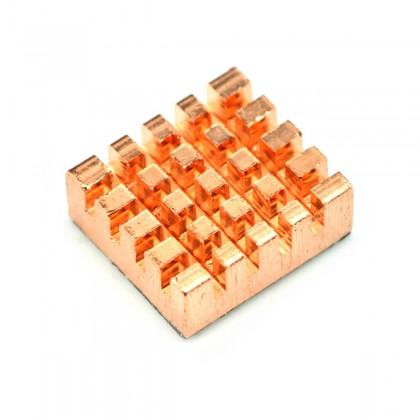 TINYSINE Radiateur Dissipateur Thermique Cuivre 13 x 12 x 5mm