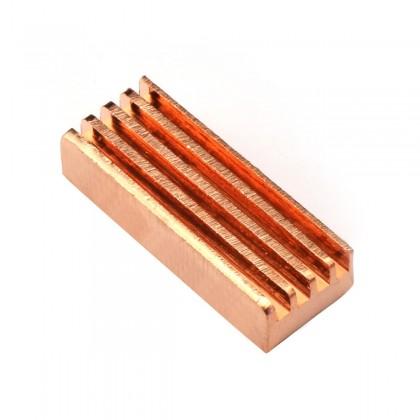 TINYSINE Radiateur Dissipateur Thermique Cuivre 22 x 8 x 5mm