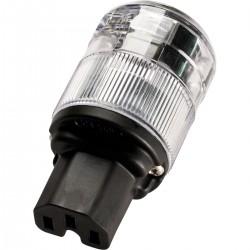 WATTGATE 320i Connector IEC C15 Cryo Treatment Perma Lock Ø 16mm Transparent