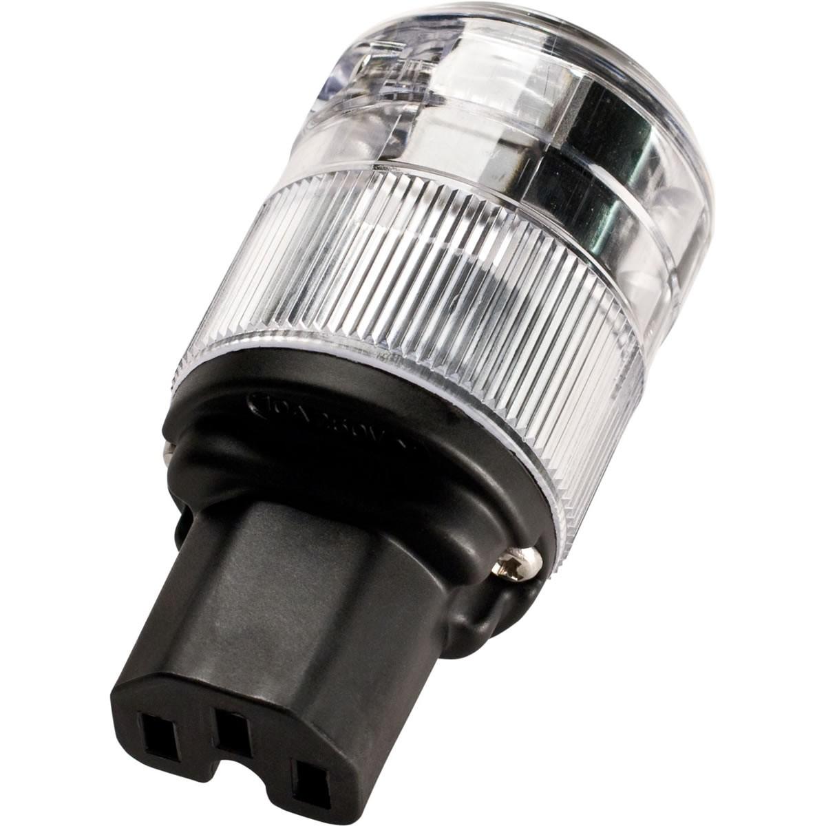 WATTGATE 320i Connector IEC C15 Cryo Treatment Perma Lock Ø16mm Transparent