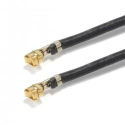 Câble d'Interconnexion XH 2.54mm Mâle vers XH 2.54mm Mâle Silicone Plaqué Or 30cm Noir (x10)