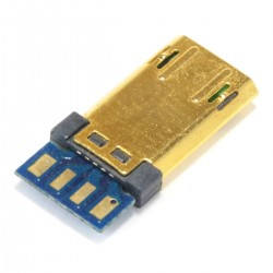USB 5PIN male plug Type C Gold-plated