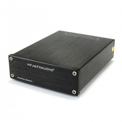 FX-AUDIO BOX01 Préamplificateur Phono (MM) NJM2068 Noir