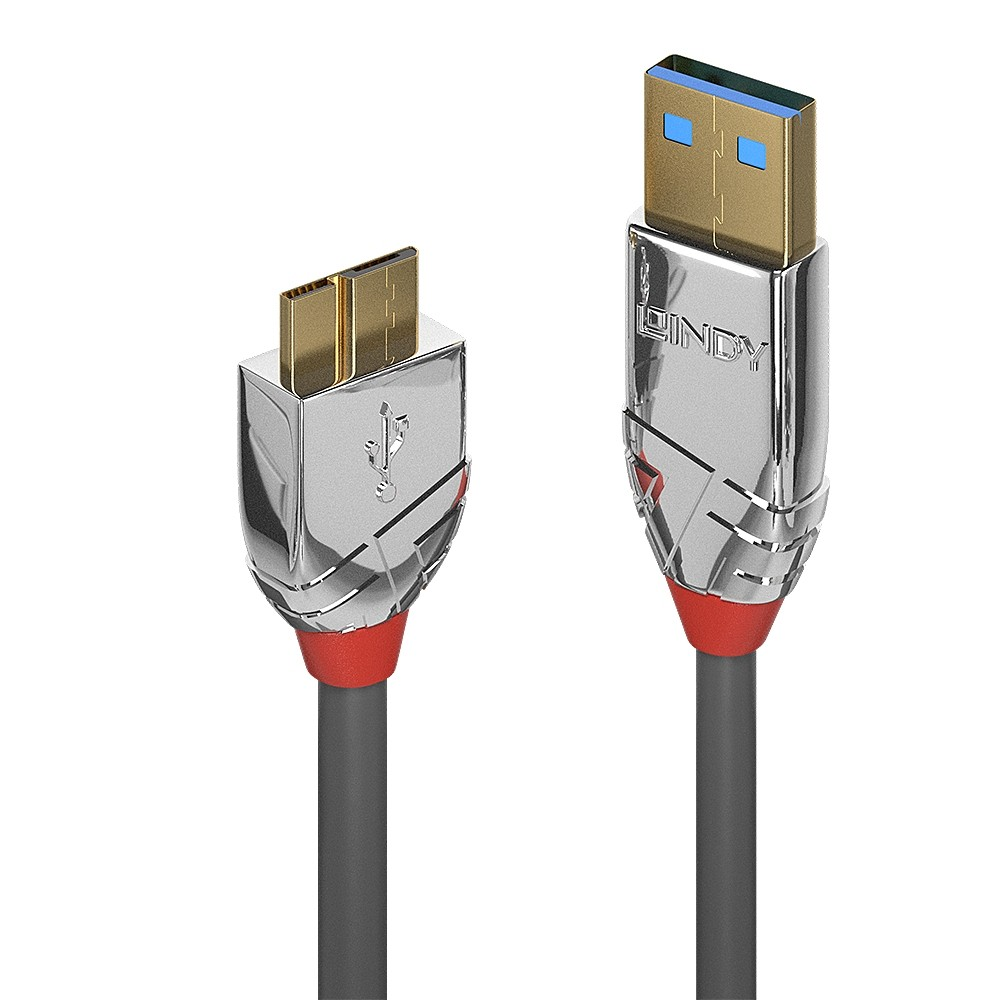 LINDY CROMO Câble USB-A 3.0 Mâle vers Micro USB Mâle Cuivre Plaqué Or 0.5m