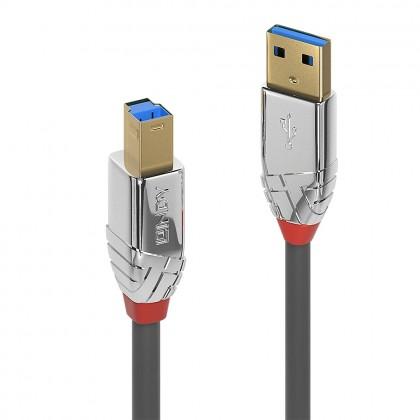 LINDY CROMO Câble USB-A 3.0 Mâle USB-B 3.0 Mâle Cuivre Plaqué Or 0.5m
