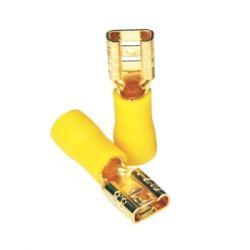 FURUTECH F210 (G) Cosse Femelle 6.3mm Isolée Plaquée Or 5.5mm² Jaune (Set x10)