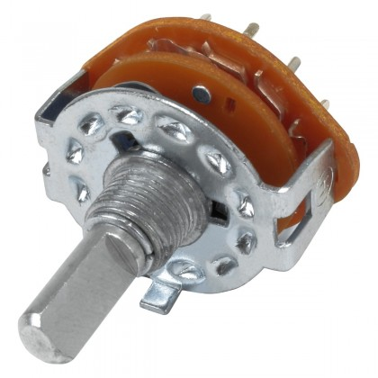 RS25 3-position selector Ø6mm Axis flat