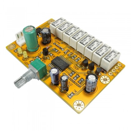 Passive Audio step volume controler 8bit 256 levels by logic door