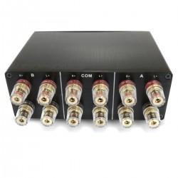 1 Sélecteur audio 2 IN 1 OUT / 1 IN 2 OUT pour enceintes / amplificateur Noir