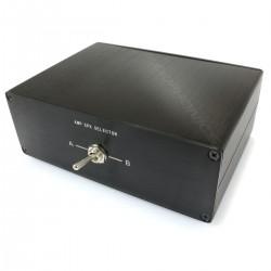 Sélecteur audio 1 vers 2 réversible pour enceintes / amplificateur Noir L