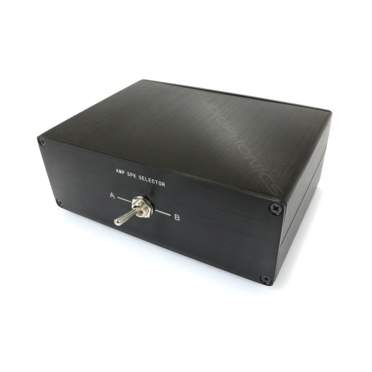 Sélecteur audio 1 vers 2 réversible pour enceintes / amplificateur Noir