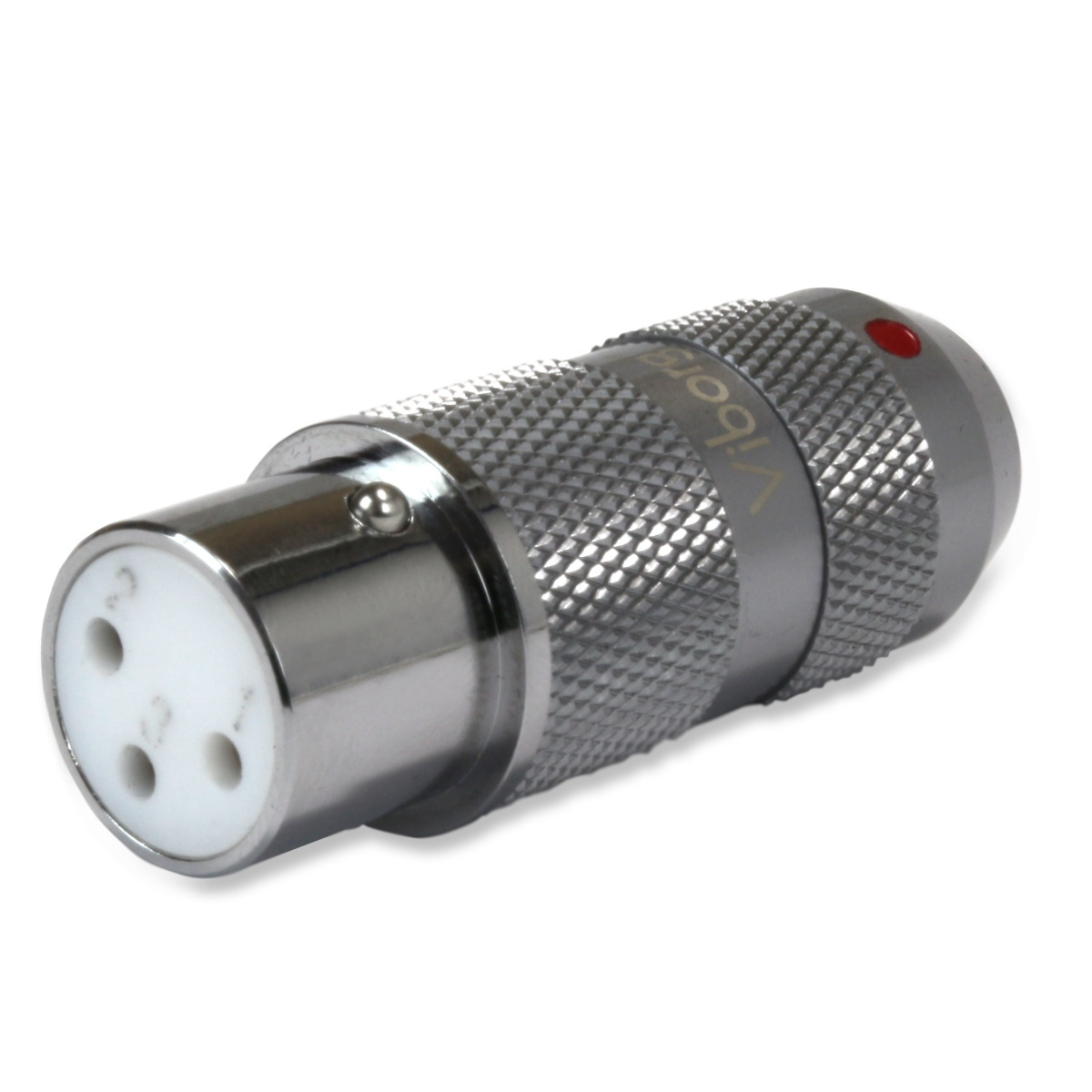 VIBORG XF-202R Rhodium Plated Pure Copper 3 Way Female XLR Connector Ø11mm Red (Unit)