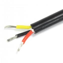 Câble Triple Conducteur Silicone 1mm² Noir