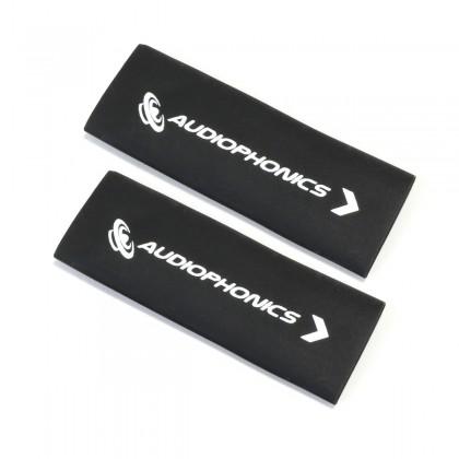AUDIOPHONICS Gaines Thermorétractables pour Câbles 3:1 Ø 12mm Noir (x2)