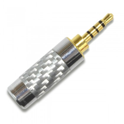 Jack Connector 2.5mm gold plated silver TRRS Ø 4mm (Unit)