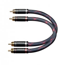TOPPING TCR1-25 RCA Cable Male / Male Silver Plated OFC Copper 25cm