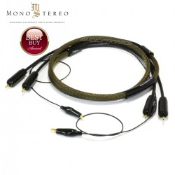1877PHONO GOLD RUSH AU/AG Cable RCA / RCA Stereo 24K Gold Plated PC-OCC Copper Silver 1m50
