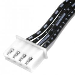 Câble XH 2.54mm Femelle / Femelle 2 Connecteurs 4 Pôles 20cm (Unité)