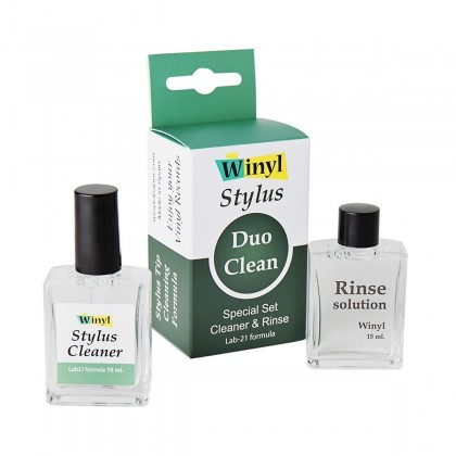 WINYL STYLUS DUO CLEAN Turntable Needle Cleaning and Rinsing Solutions