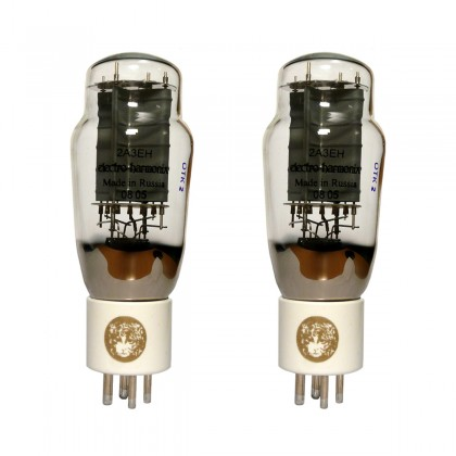 ELECTRO-HARMONIX GOLD 2A3 Power Tube Platinum Matched Gold Plated Grid (Matched Pair)