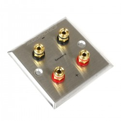 DYNAVOX Wall Plate with 4 Gold 24K Plated Speaker Terminals