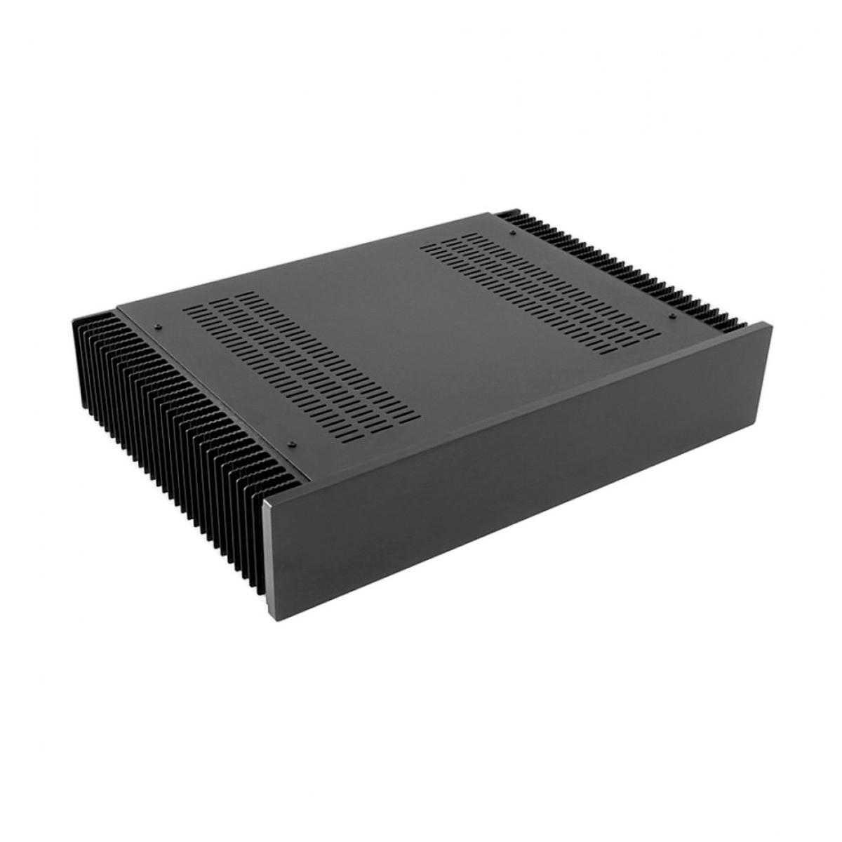HIFI 2000 Boitier dissipateur 2U 300mm - Facade 10mm Noir