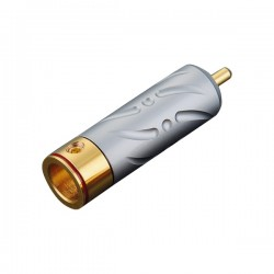 VIBORG VR109G RCA Connector Pure Copper Silver / Gold Plated PTFE Ø9.5mm (Set x4)