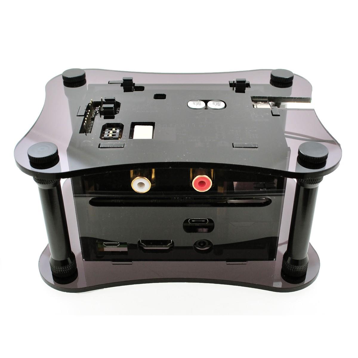 ALLO Acrylic Case for Allo Katana + Allo Isolator V1.2 + Raspberry Pi 3 Black