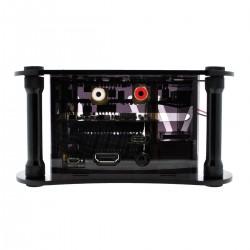 ALLO RPI+KATANA+ISOLATOR V1.2 CASE Black Acrylic Case for Raspberry Pi 3 + Katana + Isolator V1.2