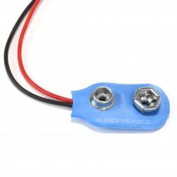 Connecteur clip pile 9V vers fil nu