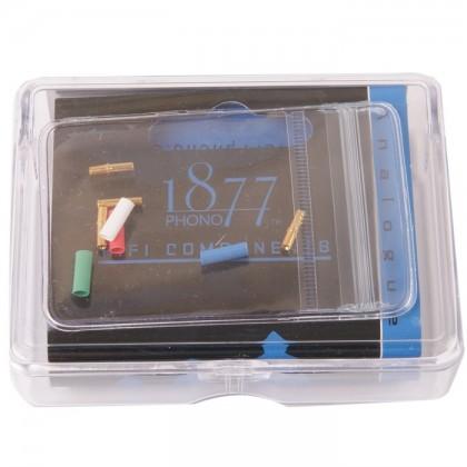 1877 PHONO FITclips Connecteurs Phono Plaqués Or 1.0-1.2mm (x4)