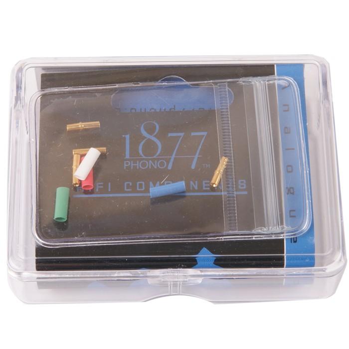 1877PHONO FITclips Connecteurs Phono Plaqués Or 1.0-1.2mm (x4)