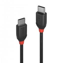 LINDY BLACK LINE Câble USB-C 3.1 Mâle vers USB-C 3.1 Mâle SuperSpeed+ 10Gbps 3A 0.5m