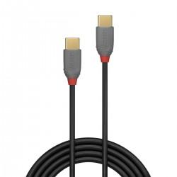 LINDY ANTHRA LINE Câble USB-C Mâle vers USB-C Mâle 2.0 Plaqué Or 0.5m