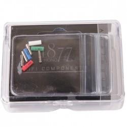1877PHONO FITclips Connecteurs Phono Plaqués Rhodium 1.0mm (x4)