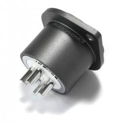 VIBORG CF201(R) Embase XLR Femelle 3 Pôles Cuivre Pur Plaqué Argent / Rhodium (Unité)