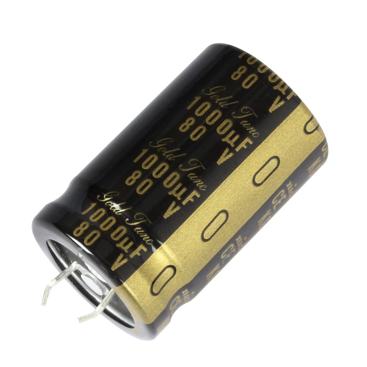 NICHICON KG GOLD TUNE HiFi Audio Capacitor 80V 1000μF